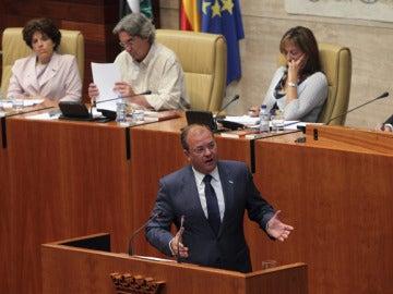 Jósé Antonio Monago en el acto de investidura como presidente del Ejecutivo extremeño.