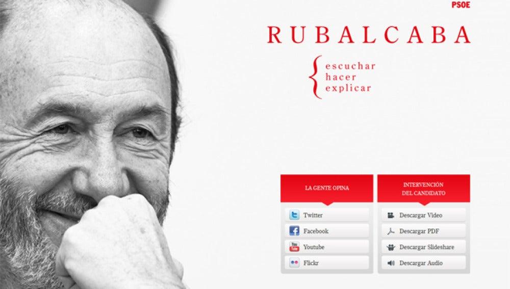 Web de Alfredo Perez Rubalcaba para las proximas elecciones generales