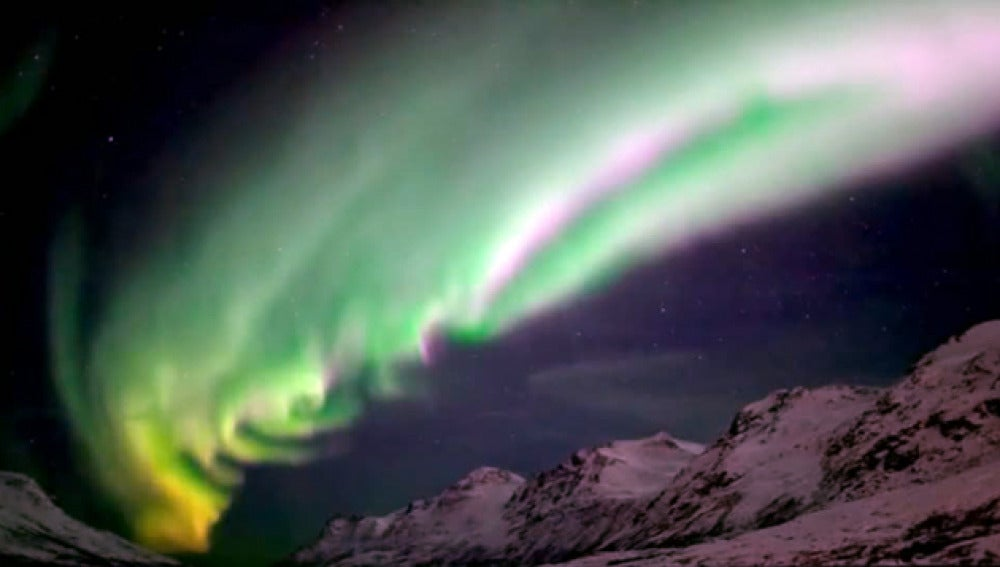 Formación de la aurora boreal