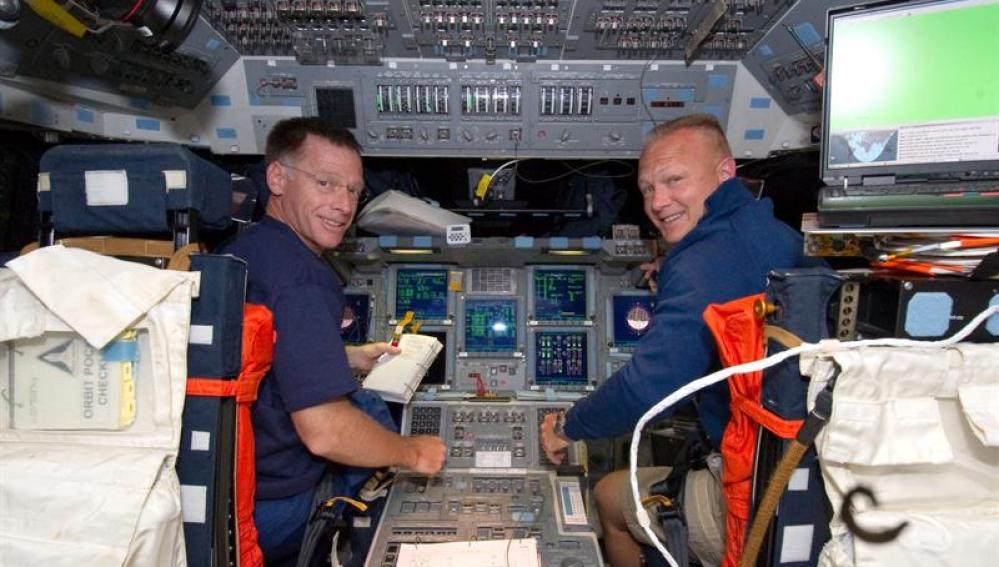 Los tripulantes del Atlantis