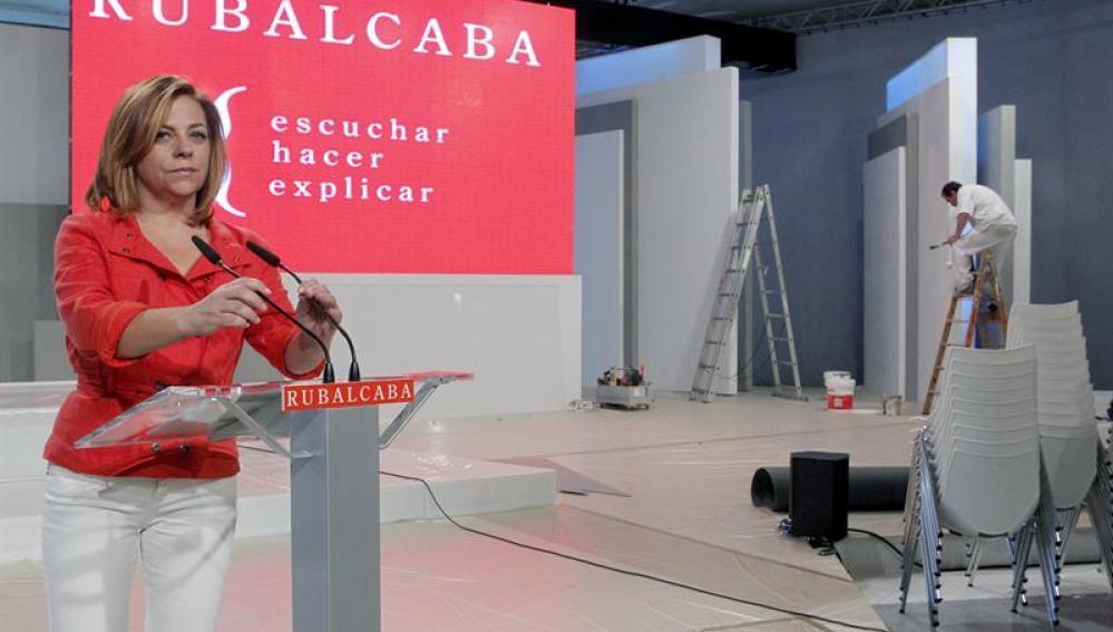 La directora del Comité Electoral de PSOE, Elena Valenciano