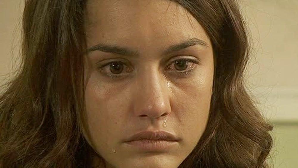 Pepa llora desconsolada por la muerte de Tristán