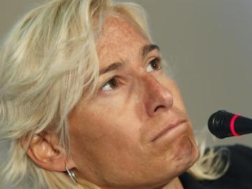 Marta Domínguez comparece ante los medios