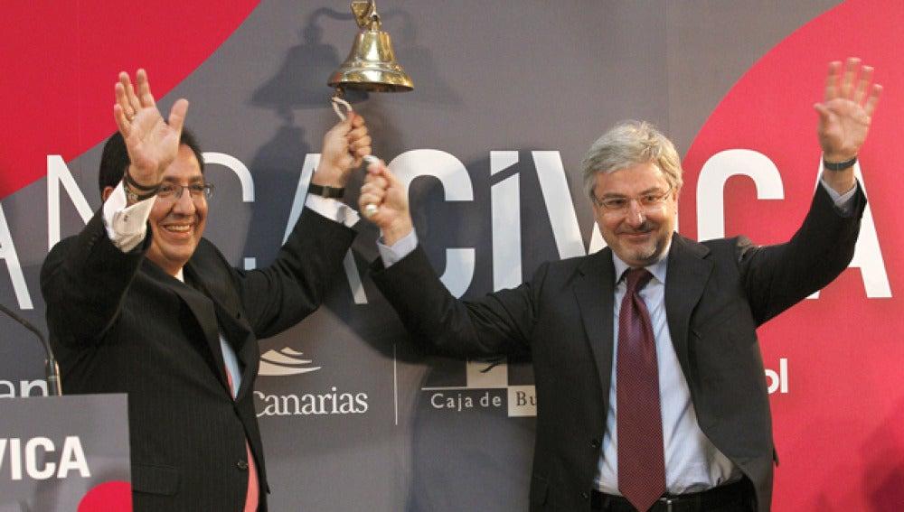 Banca Cívica sale a bolsa con un descenso de su cotización