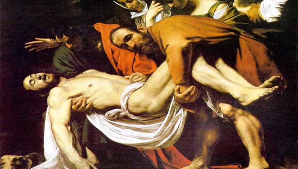 'El descendimiento' del pintor italiano Caravaggio.