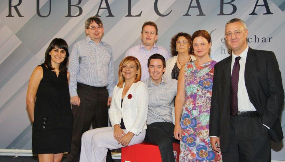 Los asesores de Obama junto a Caldera y Valenciano