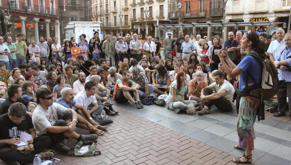 """Unos 200 """"indignados"""" protestan en Valladolid"""