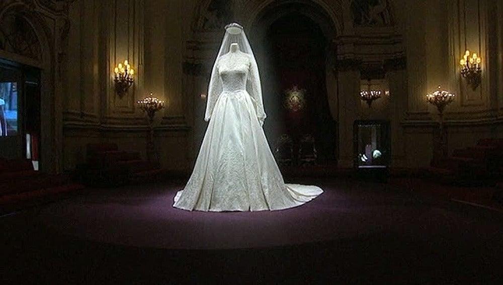 El vestido de Kate expuesto