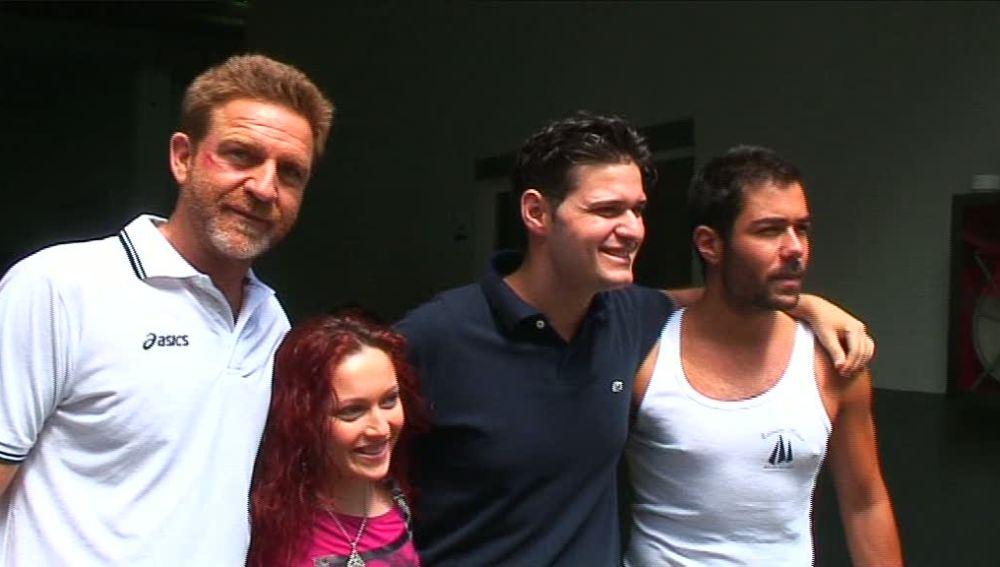 Posando con el capitán y Ramiro