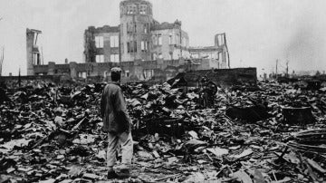 Imágen de la devastación en Hiroshima