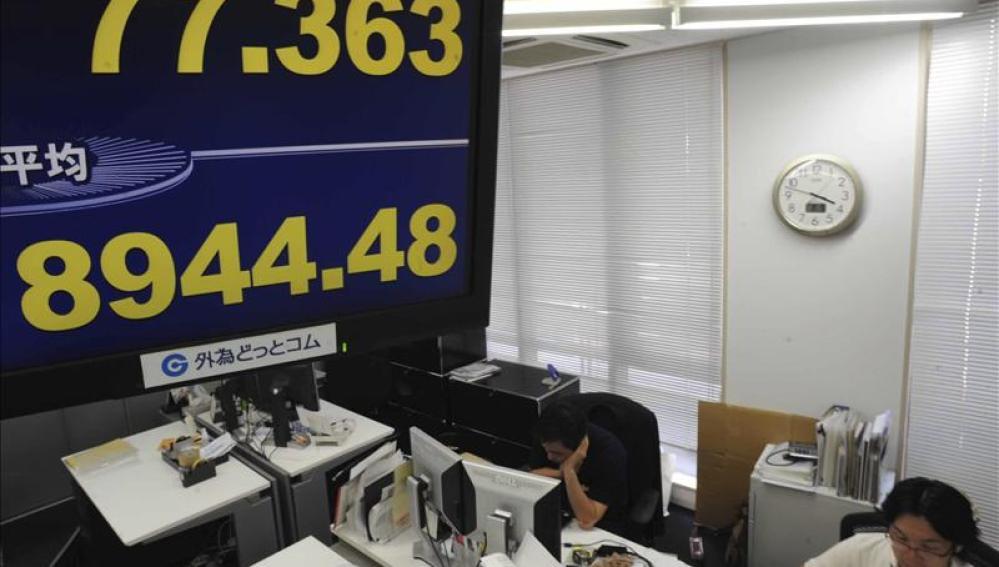El índice Nikkei de la Bolsa de Tokio