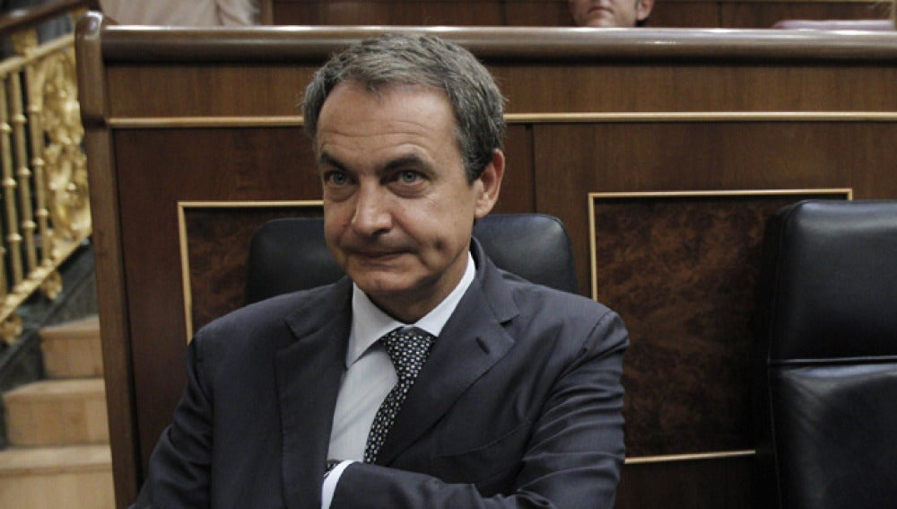 Zapatero en el pleno extraordinario del Congreso
