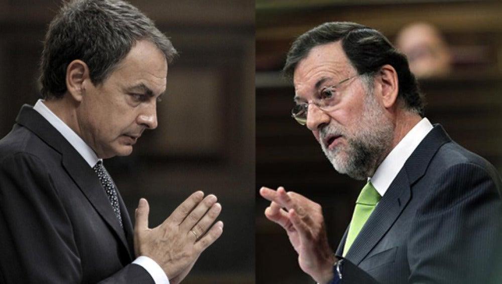 Zapatero y Rajoy, en el Congreso