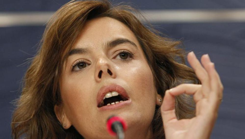 La portavoz parlamentaria del PP, Soraya Sáenz de Santamaría
