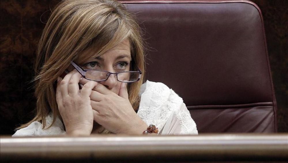 La diputada Elena Valenciano, directora de campaña del PSOE