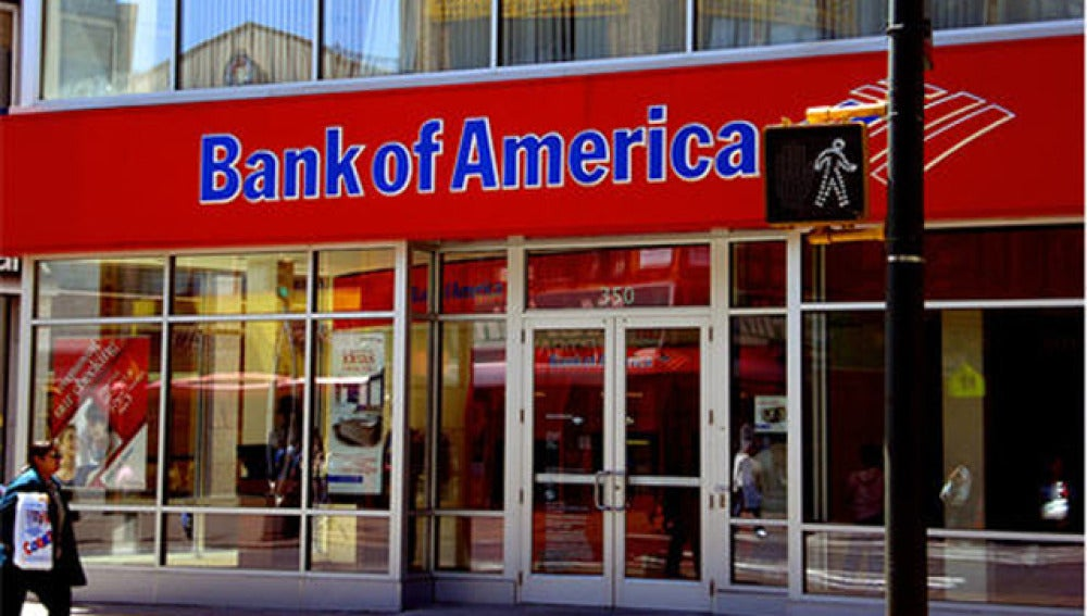Fachada de una oficina de Bank of America