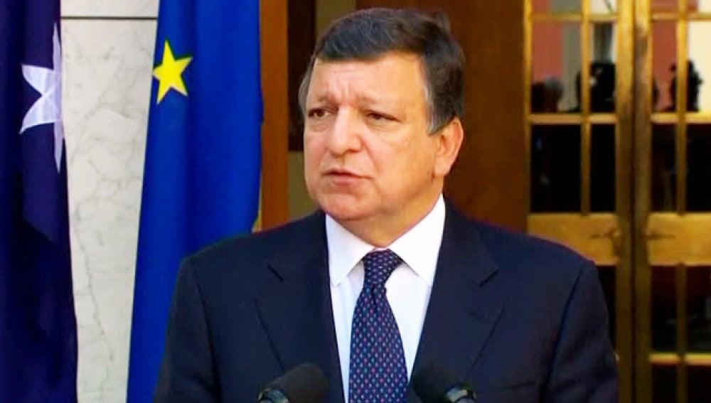 Durao Barroso en una comparecencia pública.