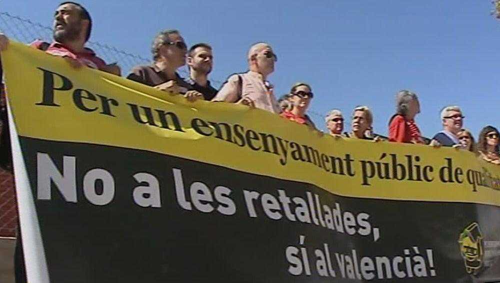 Protestas de los profesores