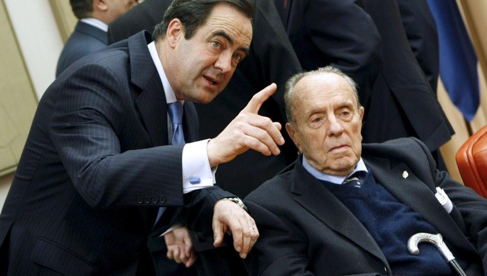 José Bono junto a Manuel Fraga
