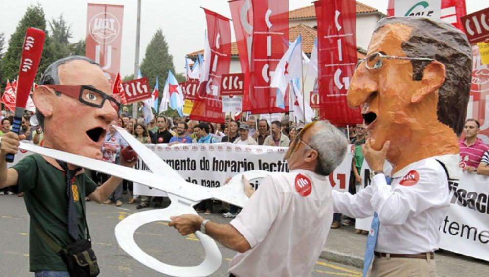 Manifestación en Galicia por los recortes en Educación