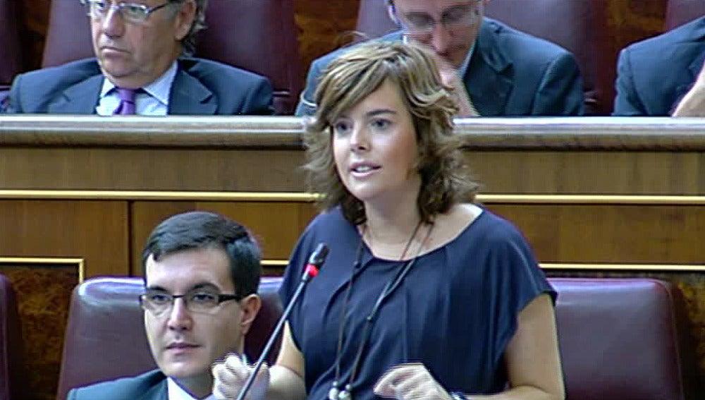 Soraya Sáez de Santamaría en el Congreso