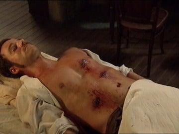 El cuerpo sin vida de Miguel Romero