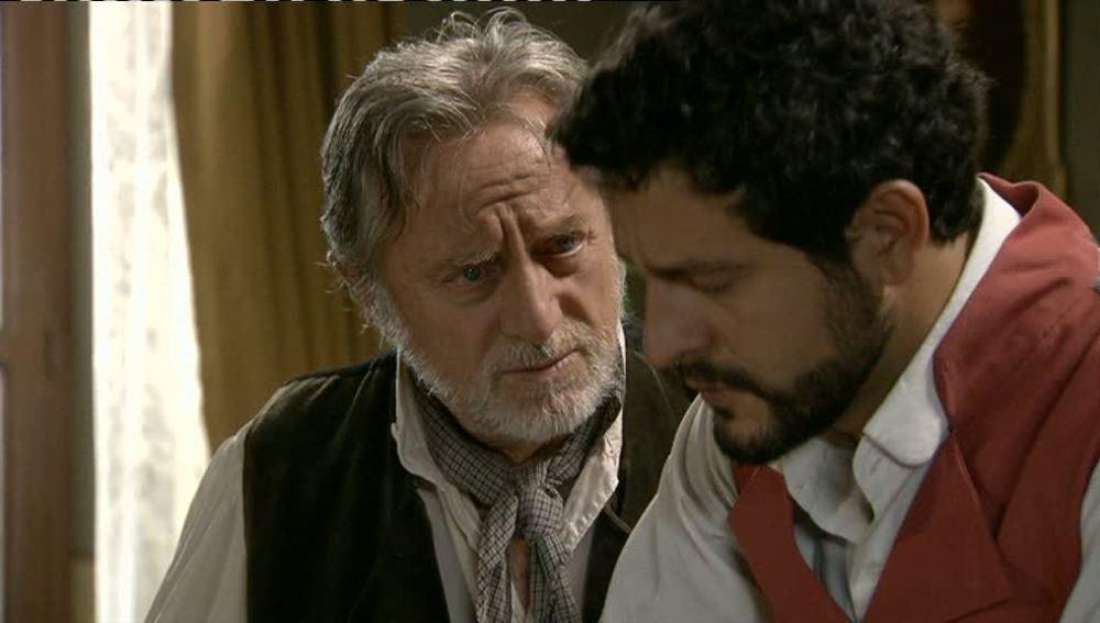 Roberto confiesa a su abuelo el estado de Eugenia