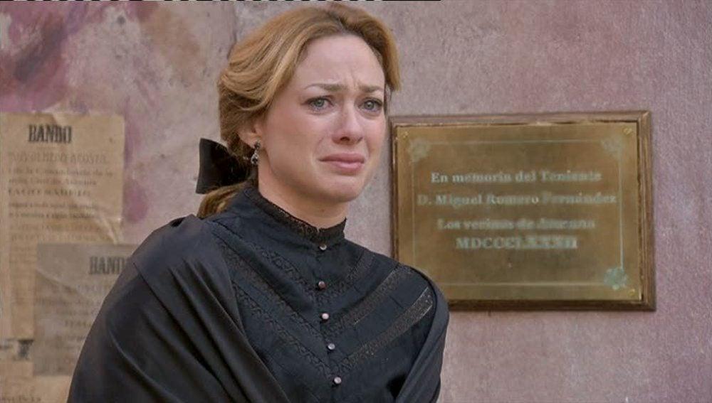 Sara jura no descansar hasta dar con el asesino de Miguel