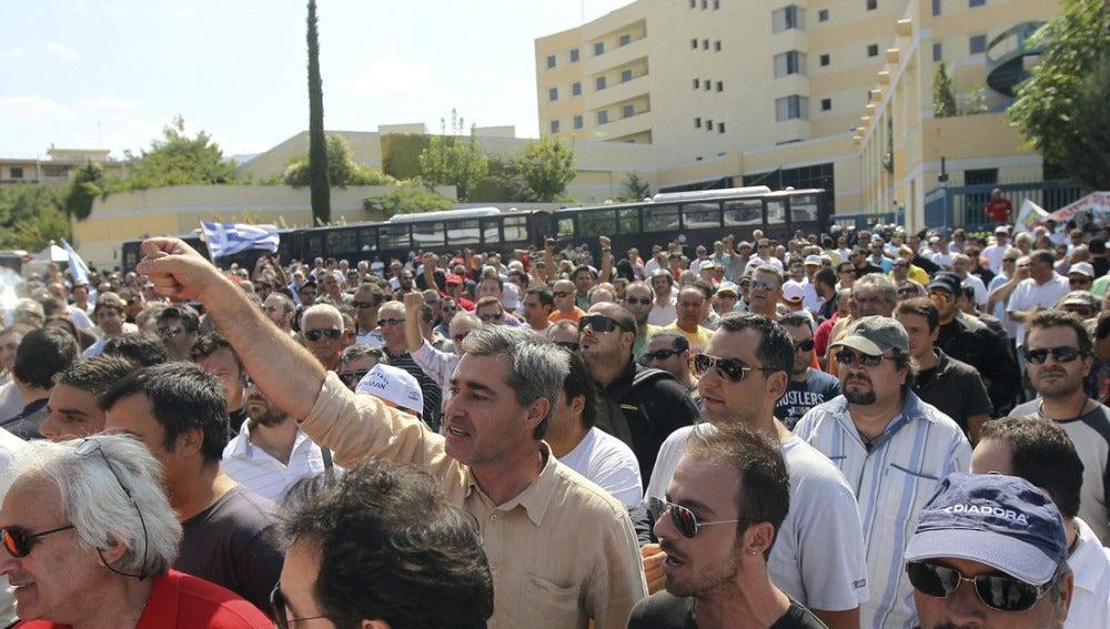 Protestas en Grecia ante la huelga de transportes
