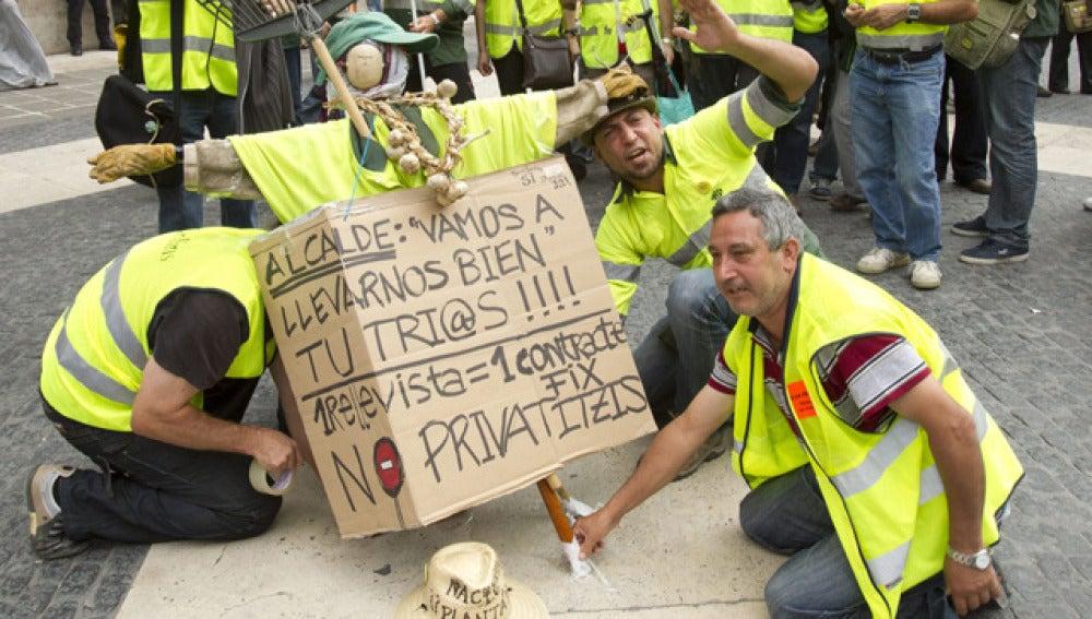 Protestas en Cataluña ante los recortes en Sanidad