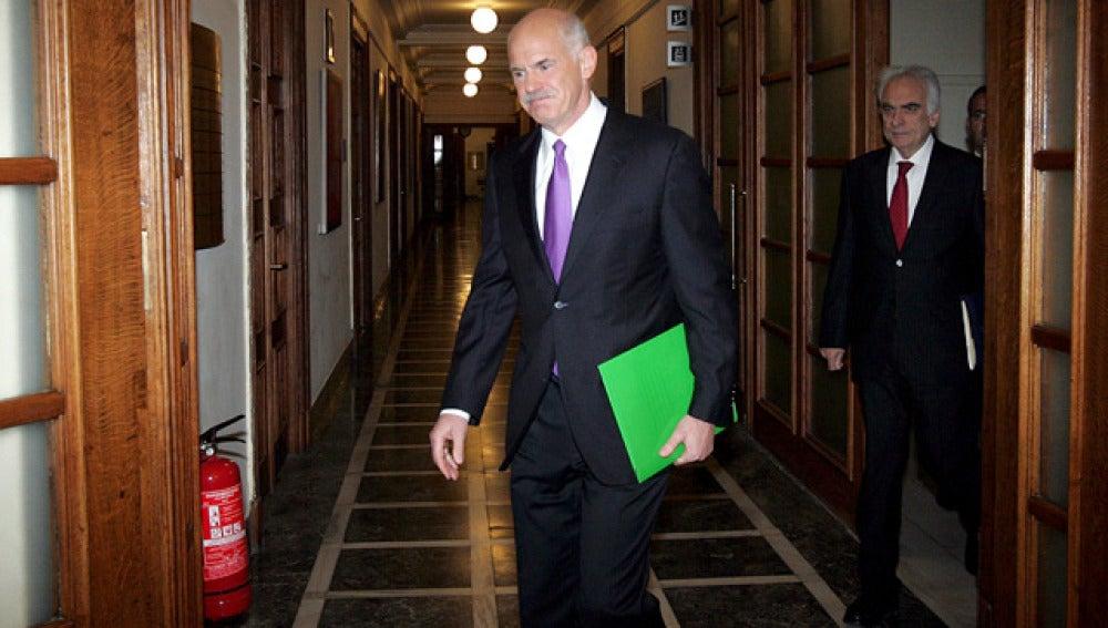 El primer ministro griego, Giorgos Papandreu