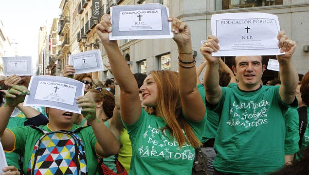Manifestación de profesores en Madrid