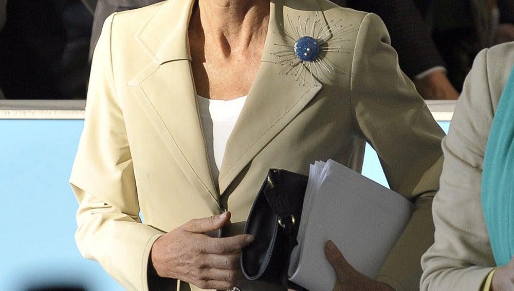 Elena Salgado, en la reunión del Ecofin en Luxemburgo