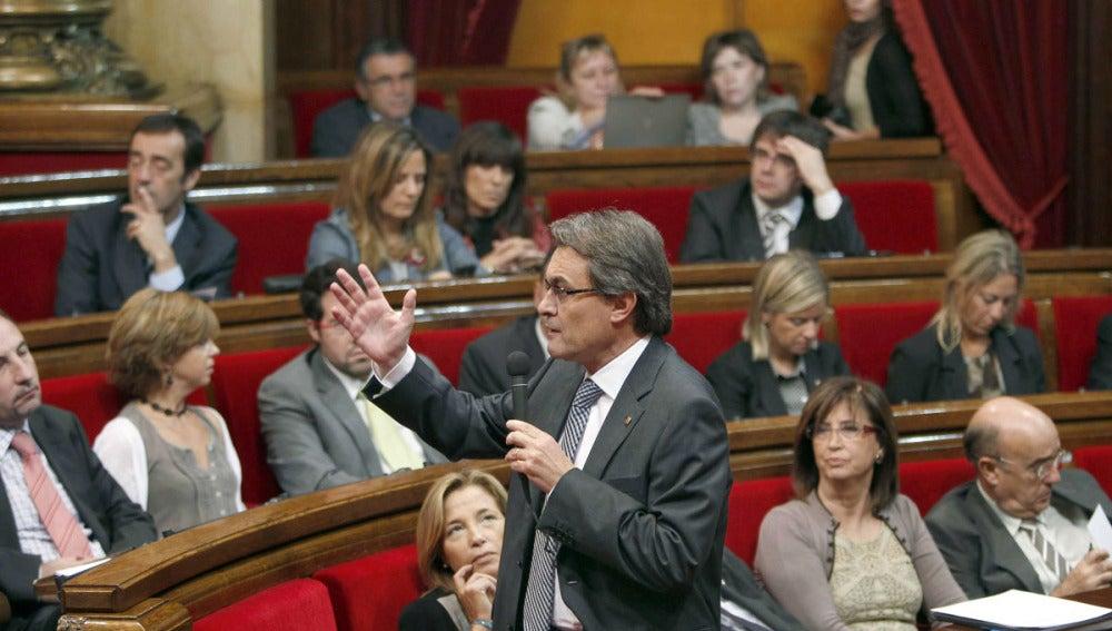 Artus Mas, en el Parlamento de Cataluña