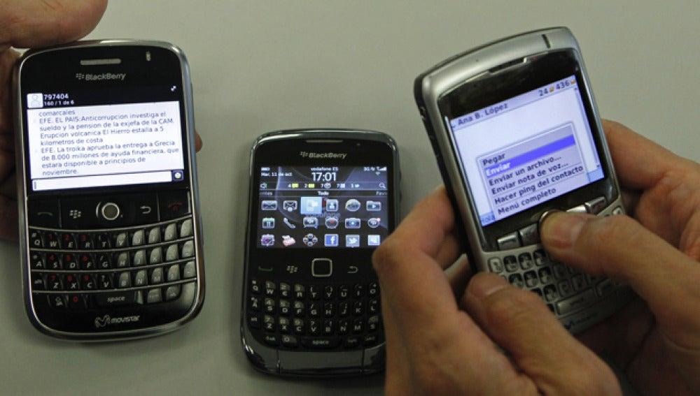A las Blackberry les costó volver a la normalidad en octubre de 2011.