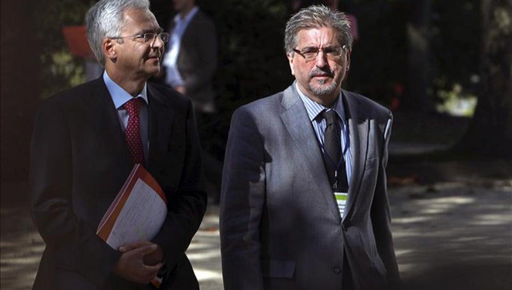 El presidente del Partido Socialista de Euskadi, Jesús Eguiguren