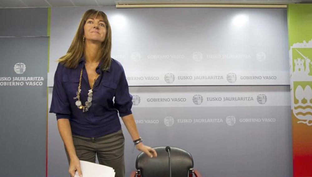 La portavoz del Gobierno vasco, Idoia Mendia