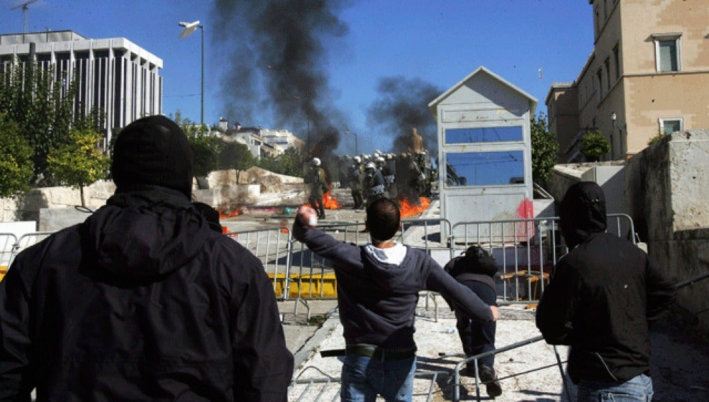 Manifestaciones masivas en Grecia