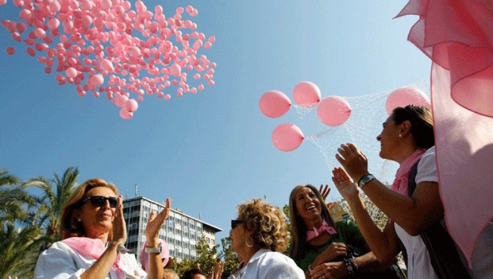 Suelta de globos en Valencia