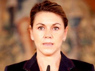 Dolores de Cospedal habla del comunicado de ETA