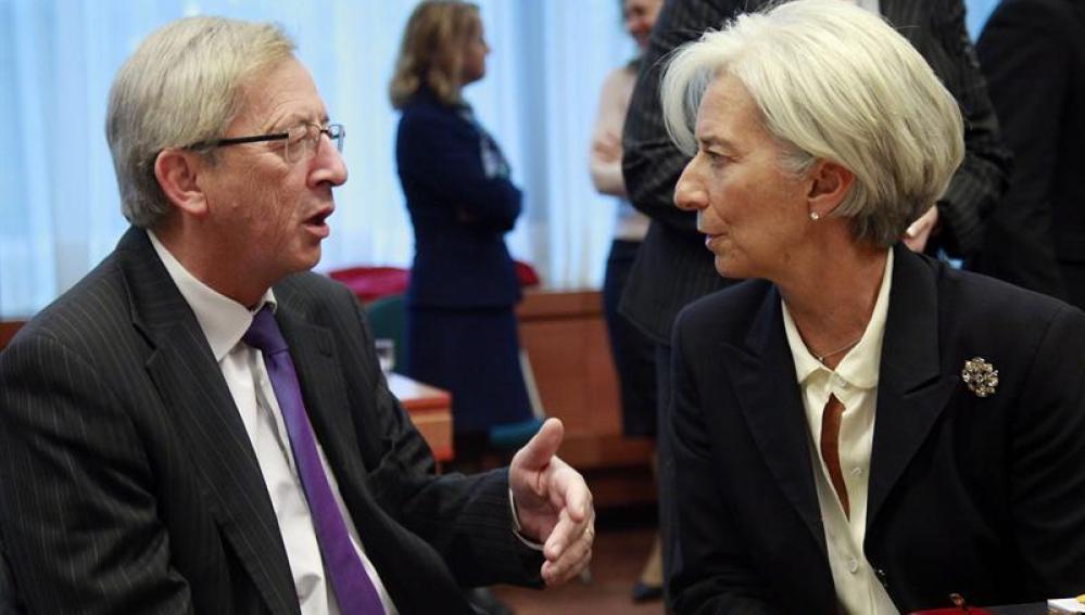 Juncker dialoga con Lagarde