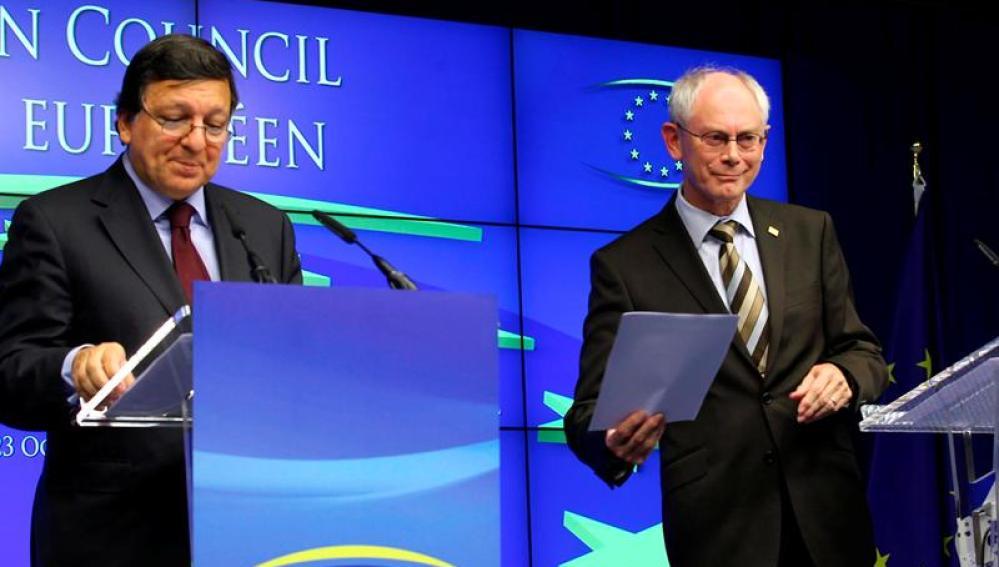 Herman Van Rompuy y Durao Barroso