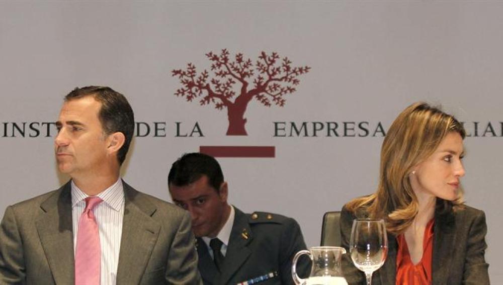 Los Príncipes de Asturias durante la inauguración del XIV Congreso de Empresa Familiar