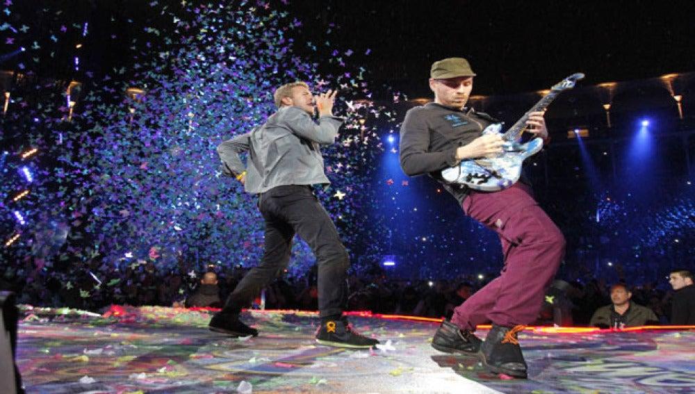 Coldplay hizo vibrar al público en su concierto de Las Ventas.