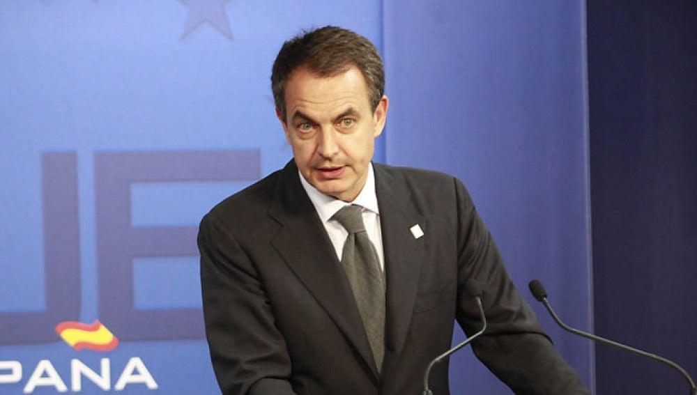 José Luis Rodríguez Zapatero en Bruselas