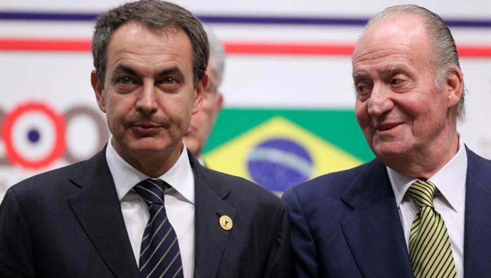 Zapatero, junto al Rey Juan Carlos