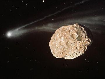 Asteroides, recreación digital
