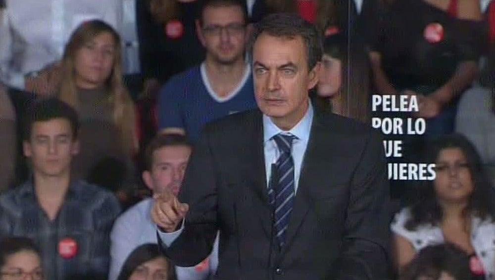 Zapatero en un mitin en Elche