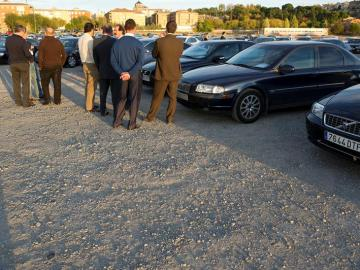 Exhibición de coches oficiales en Toledo