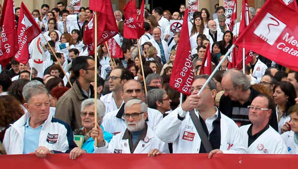 Huelga de médicos en Cataluña